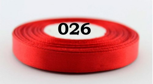 Атласна стрічка ширина 12 мм (1,2 см) Різні кольори
