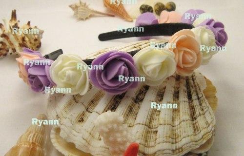 Обручи, веночки для волос из заводских цветов. Anna Rybchenko