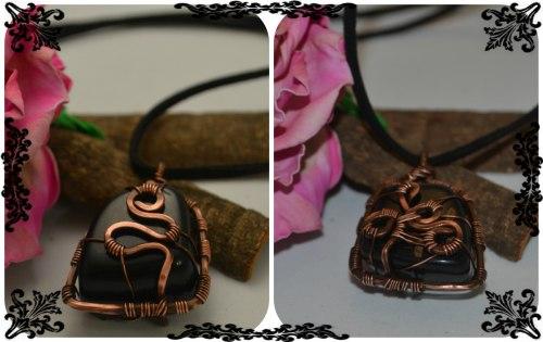 Прикраси з мідного дроту та природного каміння. Wire wrap. Anna Rybchenko