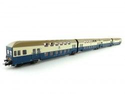 Сет восточно-немецких пригородных пассажирских двухэтажных вагонов DR Rivarossi HR4127