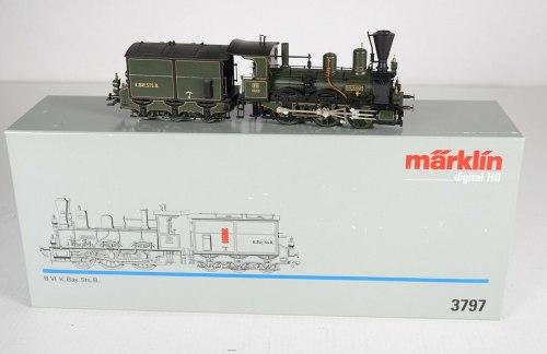 "Баварский паровоз BVI ""Murnau"" K.Bay.Sts.B. Märklin 3797"