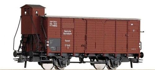 """Крытый вагон G10 """"Kassel"""" c будкой DRG ROCO 47645"""