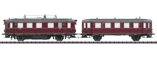 Немецкая двухвагонная автомотриса VT 75.9 und VB140 DB TRIX 22675