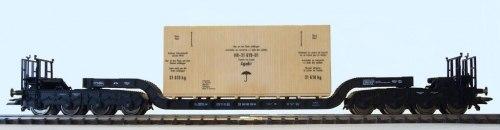 Немецкий 8-осный вагон-транспортер SSt06 DB с контейнером Fleischmann 5295