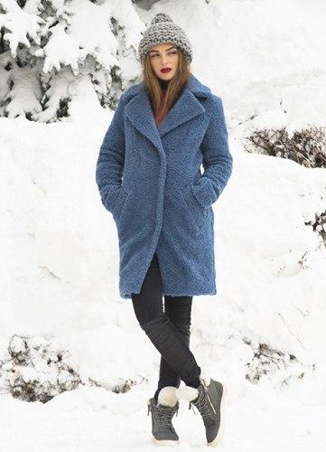 Пальто-шубка выше колена под пояс Millennium 593
