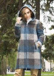 Пальто зимнее в крупную клетку Millennium 2057