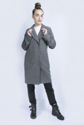 Пальто серый меланж Millennium 1953
