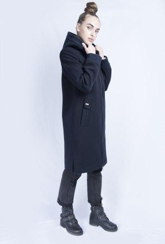 Пальто синее с капюшоном Millennium 2017