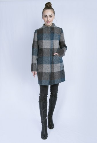Пальто шерстяное в клетку Millennium 2001