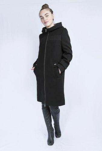 Пальто черное с капюшоном Millennium 2017