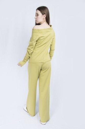 Оливковый костюм с широкими брюками Millennium 2115