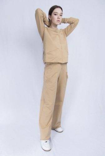 Горчичный костюм с широкими брюками Millennium 2115