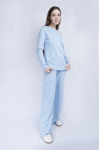 Голубой костюм с широкими брюками Millennium 2115