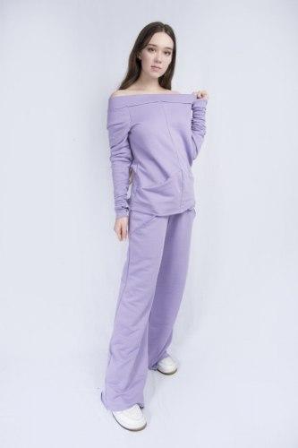 Сиреневый костюм с широкими брюками Millennium 2115