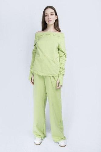 Салатовый костюм с широкими брюками Millennium 2115