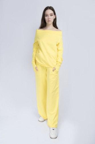 Желтый костюм с широкими брюками Millennium 2115