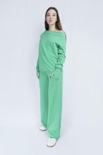 Ярко-зеленый костюм с широкими брюками Millennium 2115