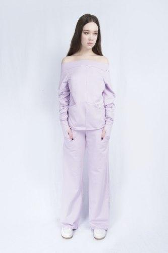 Светло-сиреневый костюм с широкими брюками Millennium 2115