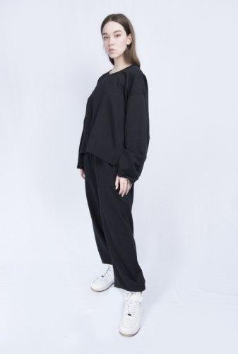 Черный костюм оверсайз Millennium 2113