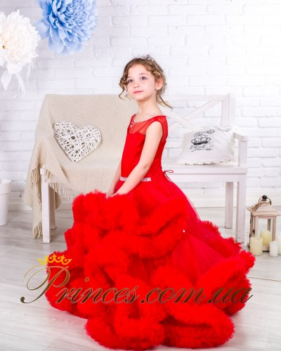 Платье Облачко красное