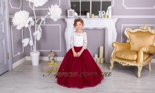 Платье Мелиса бордовая