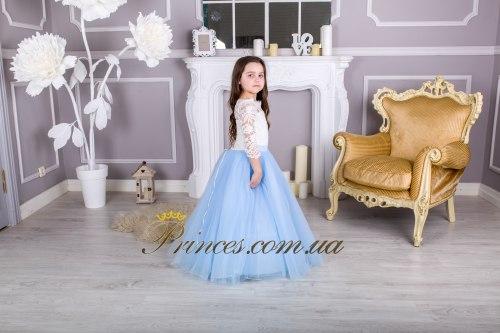 Платье Мелиса голубая