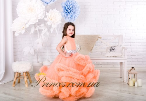 Платье Облачко персиковое