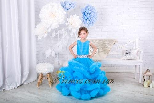 Платье Облачко морская волна